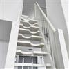 ATAB design Spartrappa Angelstad, vitmålad furu
