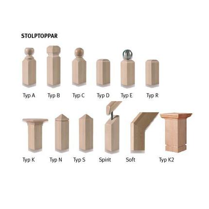 ATAB kombinerbara räckeskomponenter, Stolptoppar