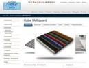 Multiguard skrap-/torkmattor på webbplats
