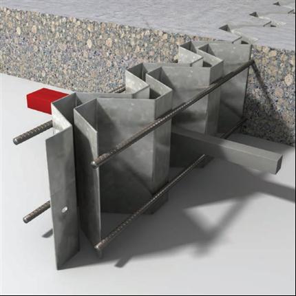 Stark armerad fog för betong