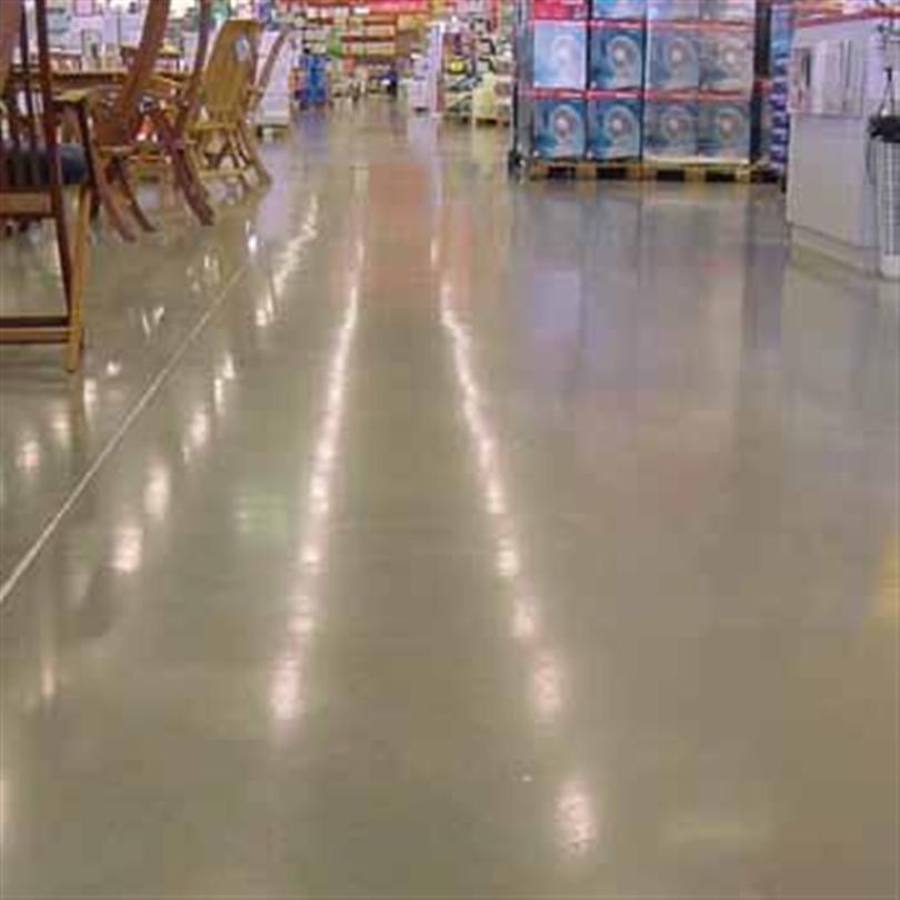 Vikttålig hårdbetong för golv