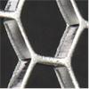 Exemple på perforerad plåt, hexagonala hål