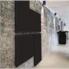 RMIG Wall svarta väggskärmar i korridor