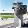 Formica Group fasadbeklädnad VIVIX® F7912 Storm på flygledartorn, Kjevik, Norge