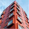 Formica Group fasadbeklädnad VIVIX® trädekor Redwood, Bohus 5, Malmö