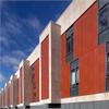 Formica Group VIVIX® fasadskivor F5513 Redwood, Universitetssjukhus, Dublin, Irland