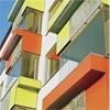 Formica VIVIX® fasadpaneler som balkongbeklädnad