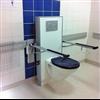 Pressalit PLUS toalettarmstöd, blå