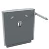Pressalit SELECT tvättställsupphängning R4950112 med manövreringsgrepp