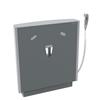 Pressalit SELECT tvättställsupphängning R4951112 med manöverdosa