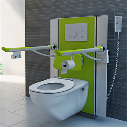 Pressalit Care SELECT toalettupphängning, limegrön