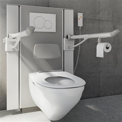 Pressalit Care toalettupphängning, antracitgrå