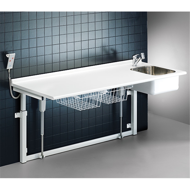 Pressalit Care Skötbord, vägghängt med vask