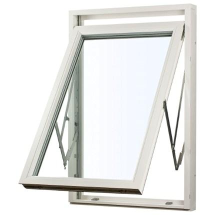 Balans vridfönster, öppet, utifrån