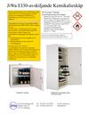 Jiwa EI 30-avskiljande Kemikalieskåp