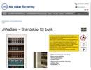 Brandskåp för butik på webbplats