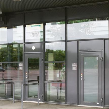 GlasLindberg GL 2060 aluminiumdörrar/säkerhetsddörrar