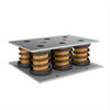 Stålfjäderdämpare för roterande maskiner, blockelement