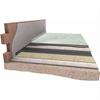 Damtec Wave 3D stegljudsmatta lagd på betongbjälklag