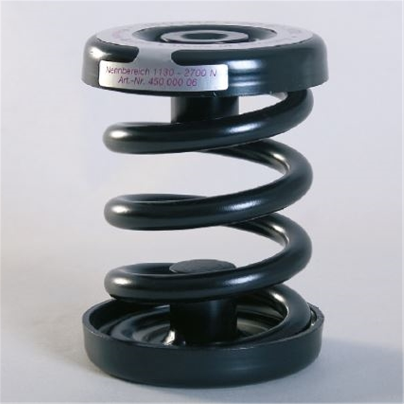Stålfjäderisolator för roterande maskiner