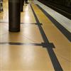 Tactile Flooring Skyddsstråk av gummi på perrong
