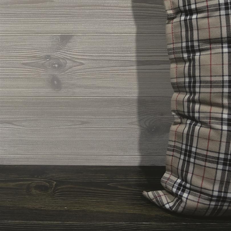 Setra innerpanel, Design, rakspont, strukturerad yta, vitgrå och svart