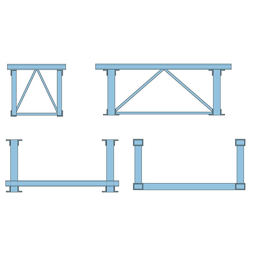 Skiss av typsketioner för broar