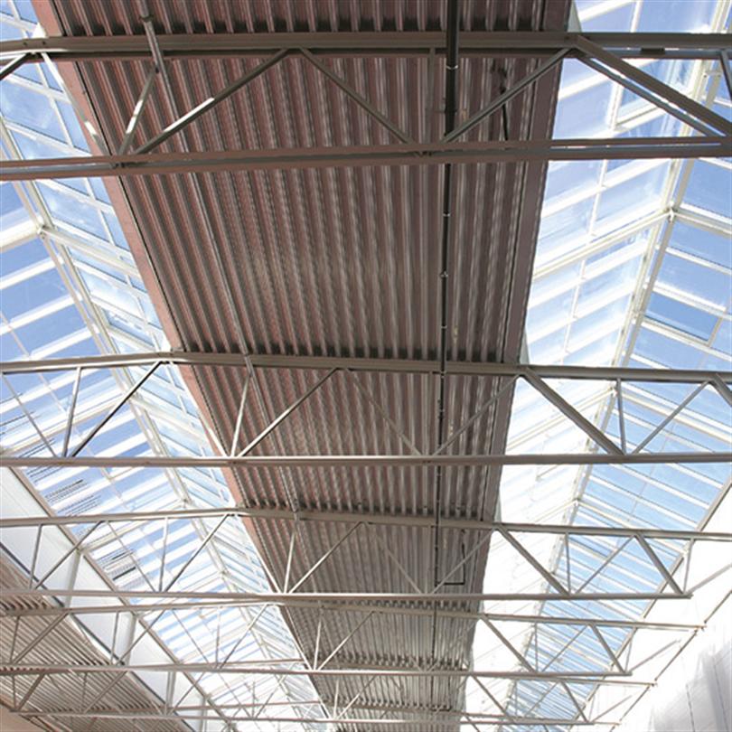 Sadelfackverk för byggnader av valsade stålprofiler