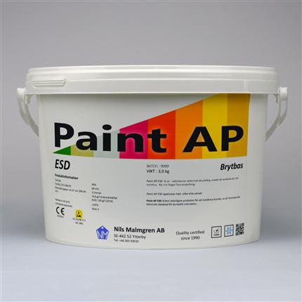vattenburen akrylatfärg, sidenmatt färg, avledande egenskaper, ytor inomhus, takfärg, väggfärg, snickerifärg