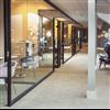 FLEX GLASSLINE WOOD glasväggar i kontorsmiljö