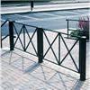 Campo staket med Bonde stolpar