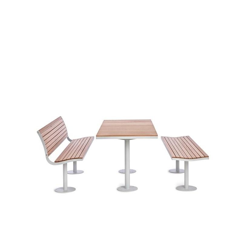 Parco möbelgrupp. Nya modeller i Parcoserien. Bord, bänk och soffa.