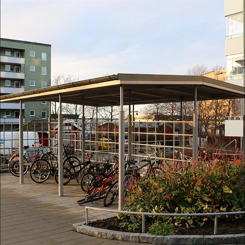 Sirius cykeltak, Rinkeby