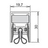 Schall-Ex WS BD tätningströskel för brand- & strålskydd