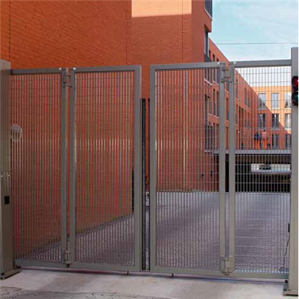 Betafence Speed folding gates, top guide racks