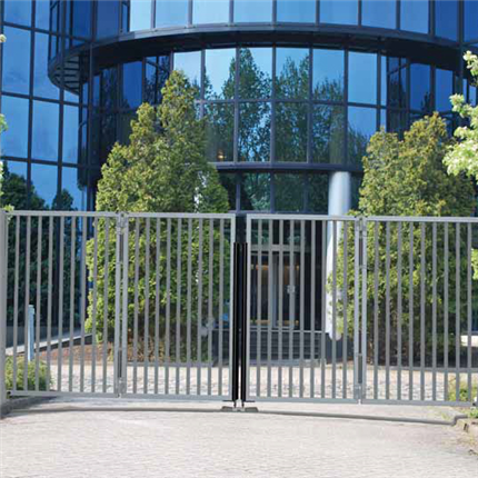 Betafence Speed folding gates, trackless