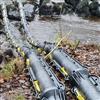 Uponor Snipp & Snapp delbara kabelskyddsrör över vattendrag