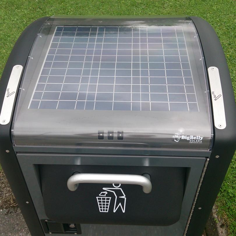 BigBelly Solar papperskorg med solceller