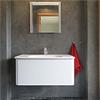 DECO ClayStone på badrumsvägg, handfat