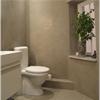 DECO ClayStone på badrumsvägg, toalett
