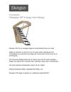 Elkington Utdragbar ZIP 8 stege med träsarg