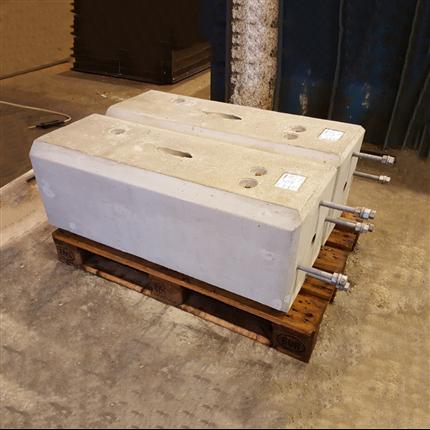 Enstaberga Cementgjuteri Plint för fällbomsdriv