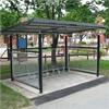Cykelgarage, väderskydd för cyklar med gallerväggar