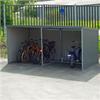 Hållbart cykelgarage, prisvärt och lättmonterat, vägg och tak av trapets-korrigerad plåt