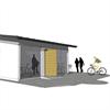 Blidsbergs gårdshus, med cykelförråd