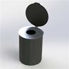 Blidsbergs papperskorg, retur med dubbellock, 45 liter