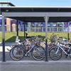 Blidsbergs Quattro cykeltak, Landskrona station