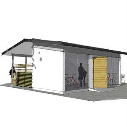 Blidsbergs gårdshus med cykelförråd