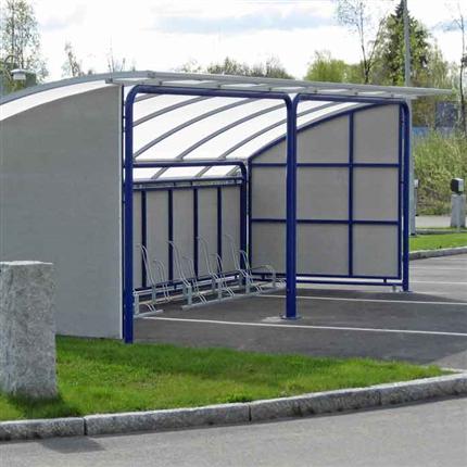 Blidsbergs Boge cykelgarage, medsidor av minerit