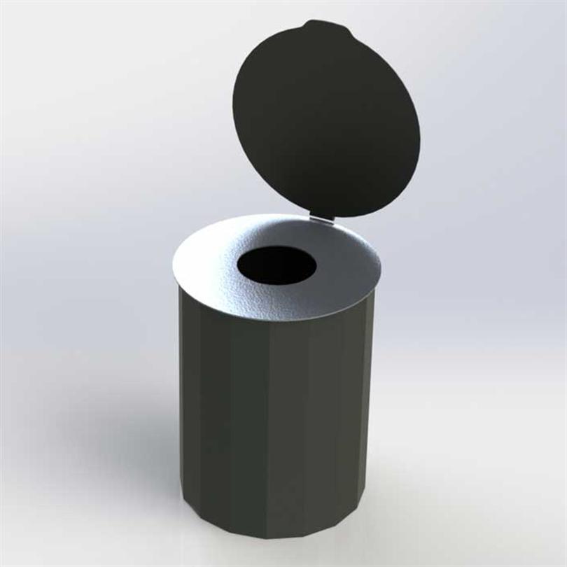 Blidsbergs Retur papperskorg med dubbellock, 45 liter